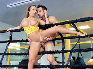 Busty Babe Goes Boxing
